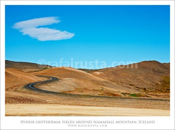 Hverir geothermal fields around Namafjall mountain, Myvatn lake area Iceland
