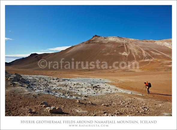Hverir geothermal fields around Namafjall mountain, Myvatn lake